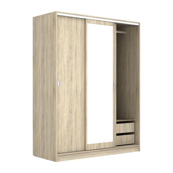 3 Door Deco 64 sliding wardrobe sonoma 150x59x191