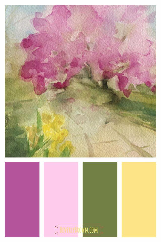 Palette Color Scheme Finished Watercolor Pallet Watercolor Art