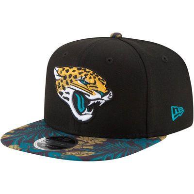 Jacksonville Jaguars New Era Floral 9FIFTY Adjustable Hat - Black