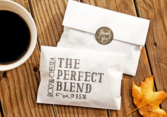 The Perfect Blend Coffee Favor Bag  Wedding or Shower by mavora