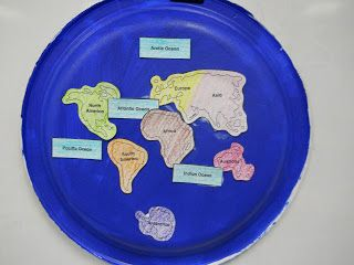 1st grade geography lesson to teach the continents and oceans in September for the Passport Club. www.passportclubonline.com