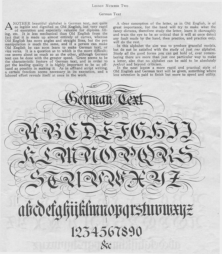 Ornate German Calligraphy Guide Calligraphy Typography