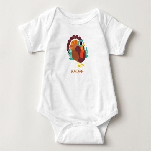 Rollo the Turkey. Baby, bebé. Producto disponible en tienda Zazzle. Vestuario, moda. Product available in Zazzle store. Fashion wardrobe. Regalos, Gifts. #camiseta #tshirt