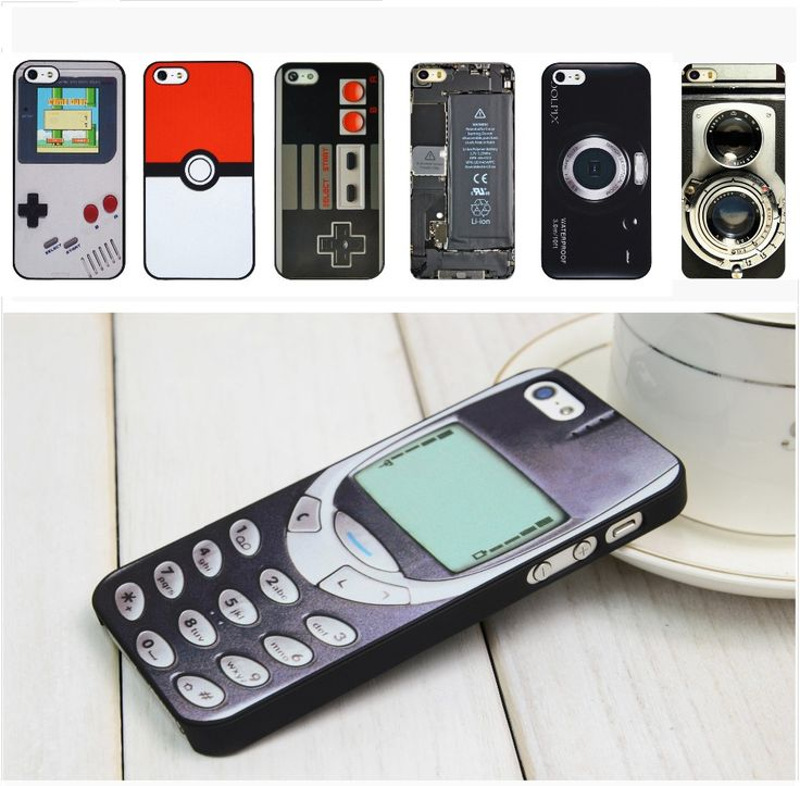 For iPhone Case Old Style 3310 Funny Gameboy Videotape Camera Case Cover 4 4S 5 5S ** Learn more by visiting the image link.