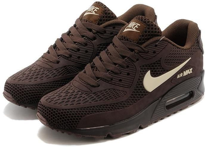 nike air max 90 all brown mens shoes