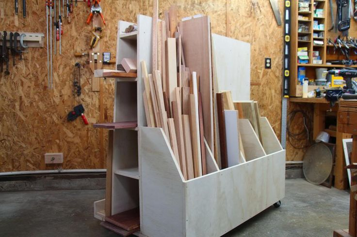 Lumber storage rack plans free woodworking projects plans for Rolling lumber cart plans