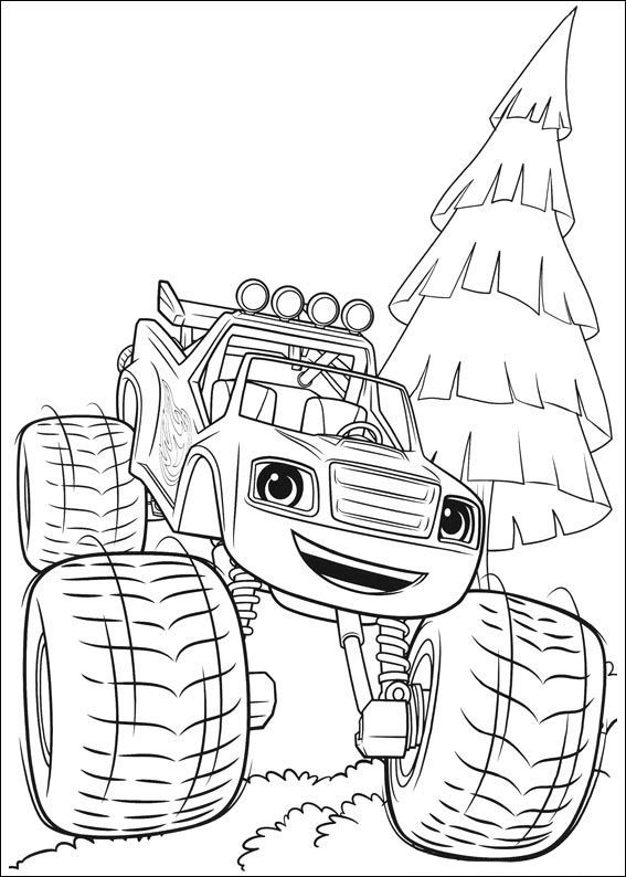 Blaze And The Monster Machines Coloring Pages Best Coloring Pages For Kids Monster Truck Coloring Pages Truck Coloring Pages Cartoon Coloring Pages