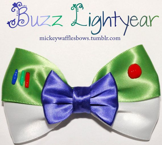 Hey, I found this really awesome Etsy listing at https://www.etsy.com/listing/106073533/buzz-lightyear-hair-bow