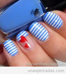 Diseño uñas marinero, verano 2013
