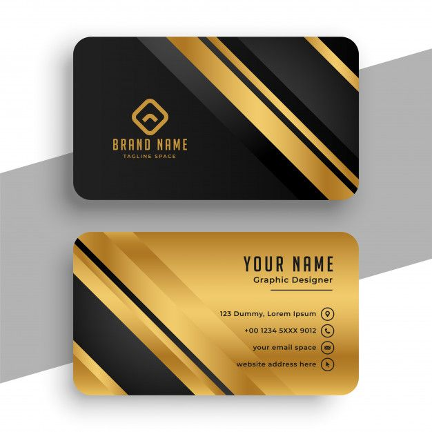 Download Black And Gold Business Card Template For Free Gold Business Card Glossy Business Cards Yellow Business Card