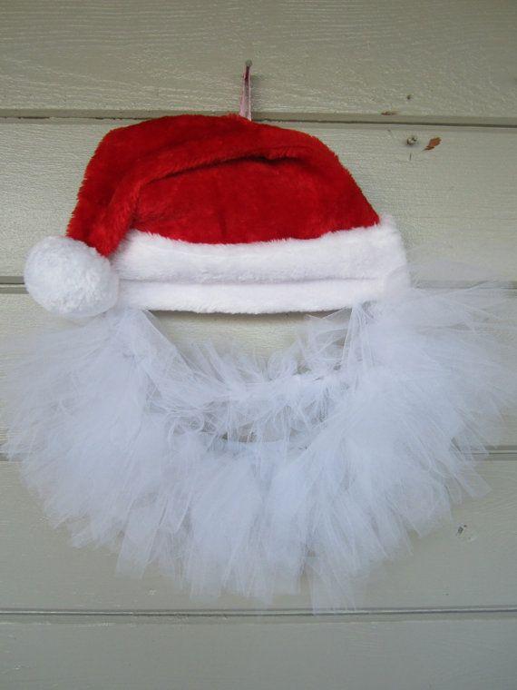 Santa Wreath Door Decoration by ritzywreaths on Etsy, $35.00