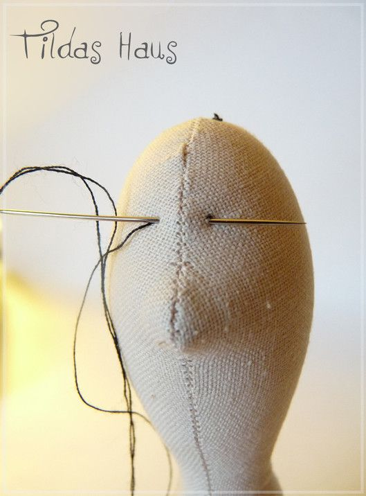 Master-class on the creation of a pregnant doll style Tilda. Part 1 - The body sew, embroider eyes. - Fair Masters - handmade, handmade