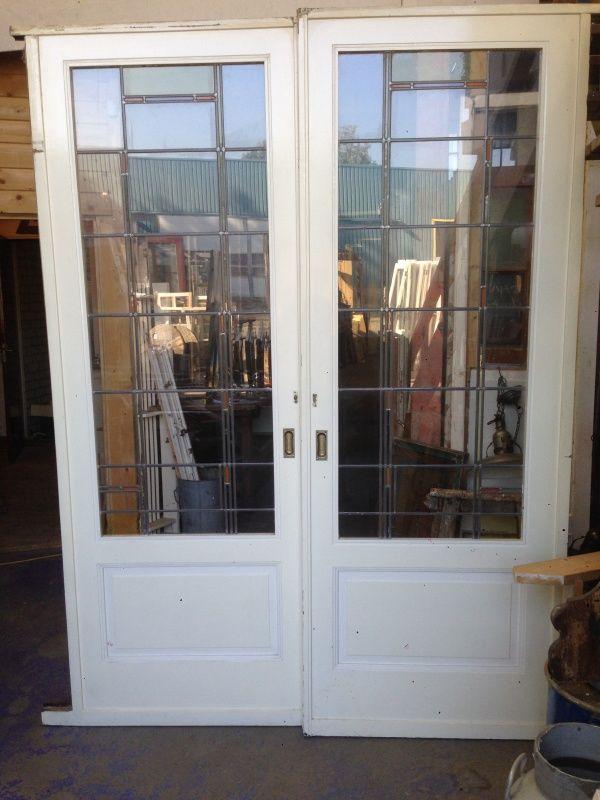 nr. e27 set glas in lood ensuite deuren