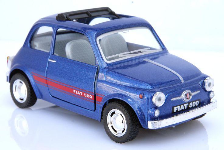 La mitica Fiat 500 Classic, un bellissimo giocattolo che è dotato di molla di richiamo (tirando all'indietro la Fiat 500 la molla si carica e lasciandolo andare partirà velocemente in avanti), e di entrambe le portiere Apribili.  Per Giocare basta tirare indietro la macchina e via si parte a tutto gas!  Incuriosisci i tuoi amici e divertiti.   Dimensioni della FIAT 500 CLASSIC cm 13x5,5x6 h 1:32 - Materiale: Metallo.  Colori Disponibili: AZZURRA, BLU, NERA ROSSA