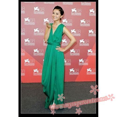 Charlene Choi Green Prom Dress Venice Film Festival 2011 $119.99 each at Mysupercenter.net