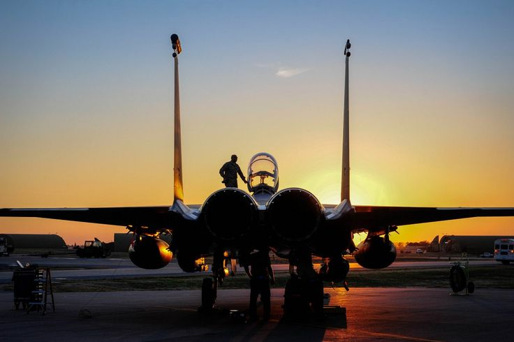 An F-15E Strike Eagle sits on the flight line at Incirlik Air Base in Turkey on November 12.