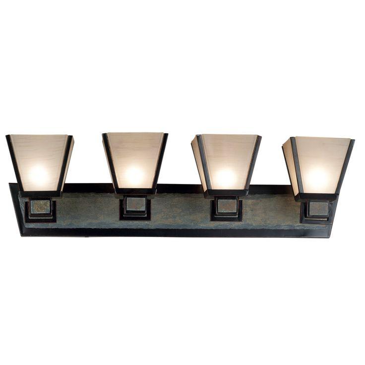 Kenroy Home 91604ORB Clean Slate 4-Light Vanity Light Bar - 33W in. Bronze Finish - 91604ORB