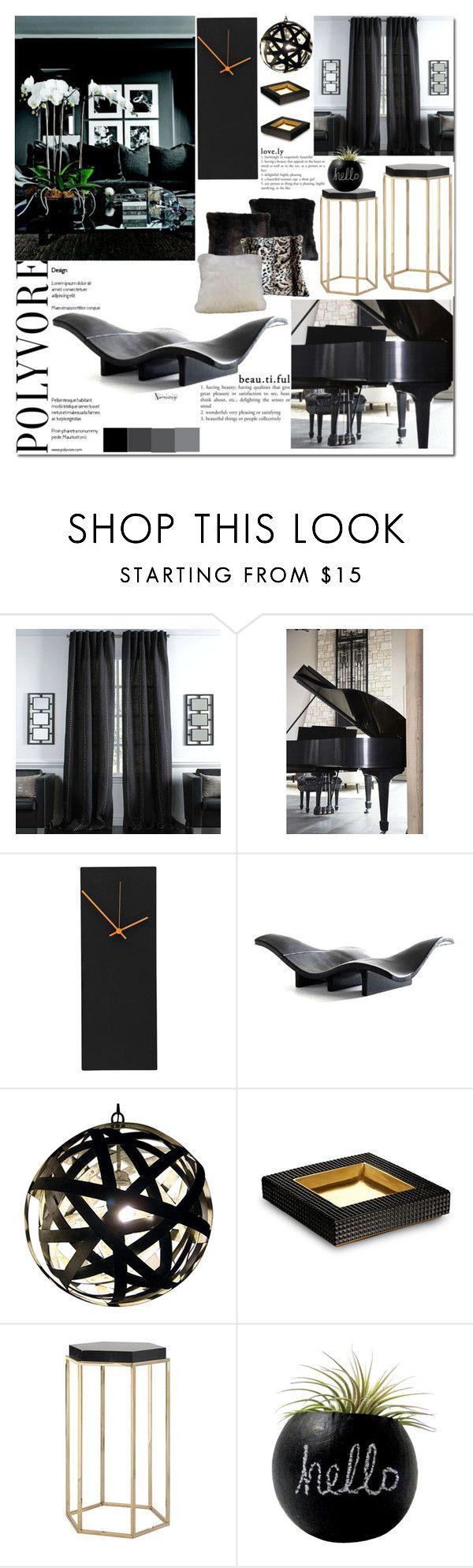 """Untitled #2884"" by naomimjc on Polyvore featuring interior, interiors, interior design, hogar, home decor, interior decorating, Universal Lighting and Decor, E + J y Dot & Bo"