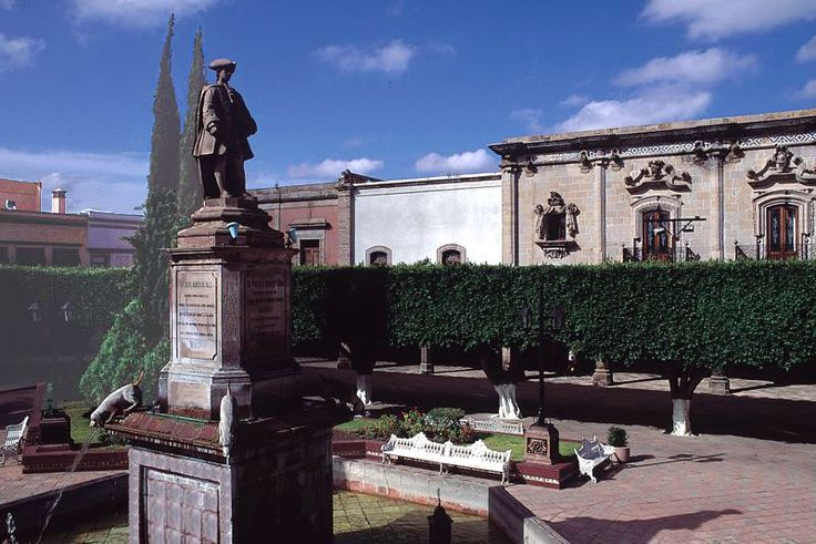 Parade square, Santiago de Queretaro, Queretaro, Mexico