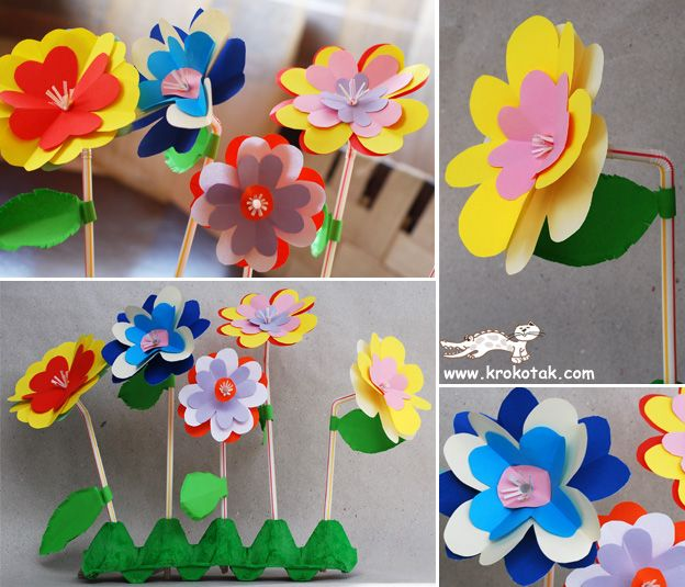 interesting way of folding paper and making flowers with straw stems/stamens.  Not in english, but has good pics
