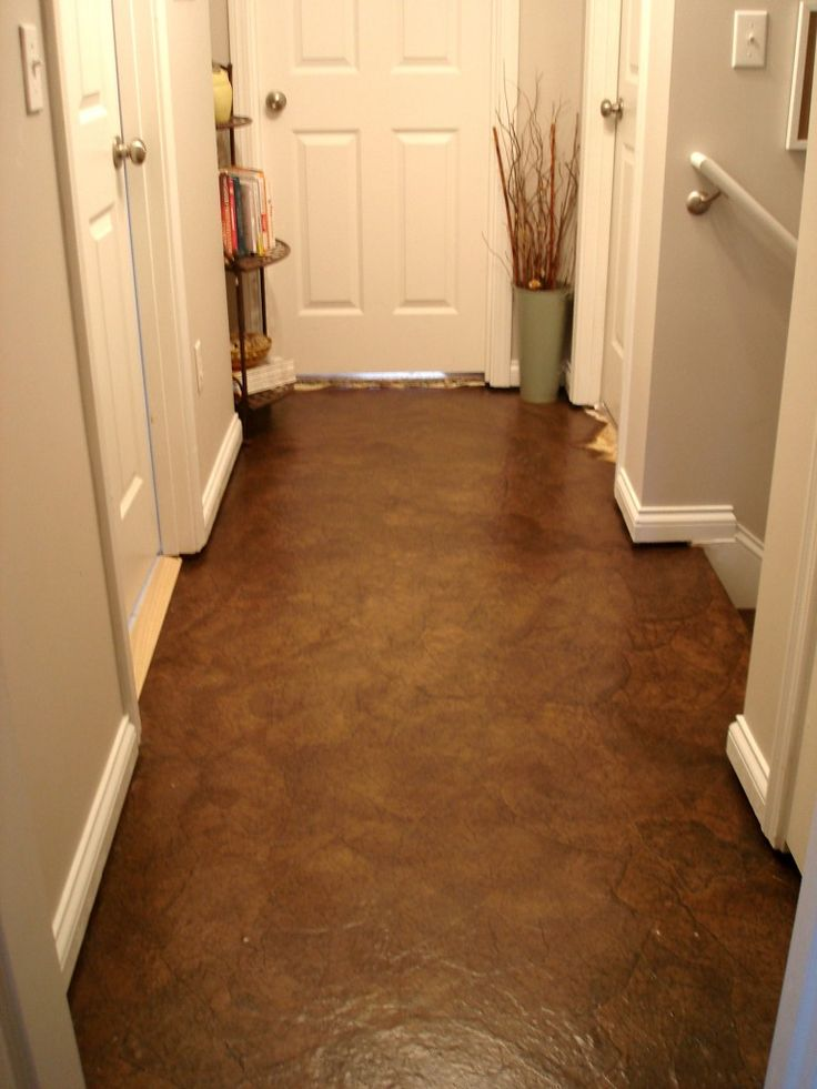 Brown Paper Bag Floors. Kind of looks like leather and affordable...I just wonder how durable it is?: Crafts Paper, Ideas, Brown Paper Bags, Paper Floors, Stairs, Paper Bag Flooring, Drawers, Paper Bags Floors, Hallways Makeovers