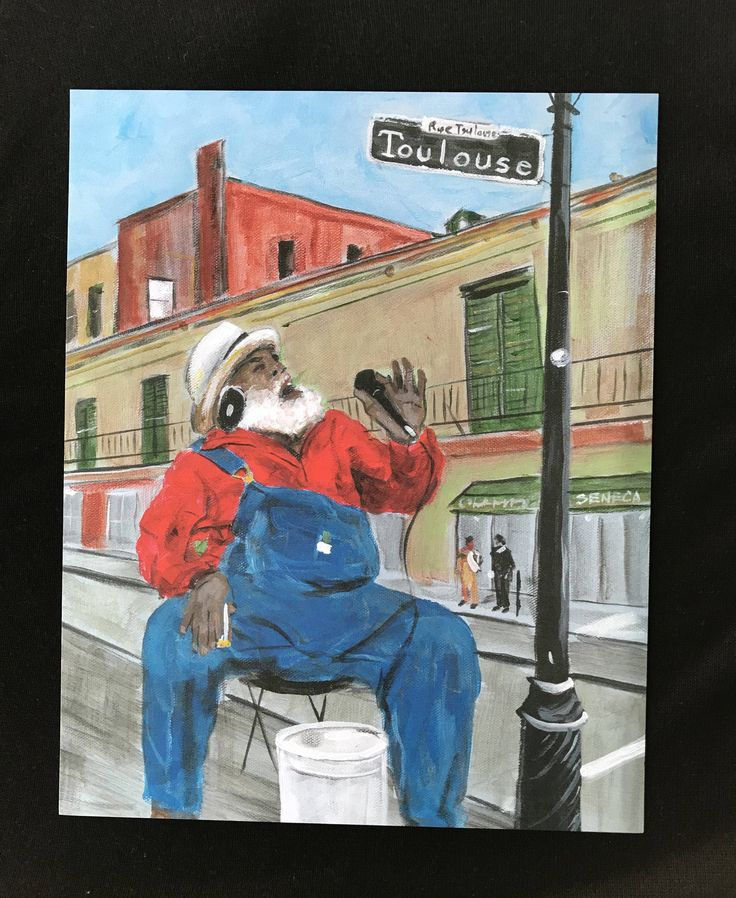 Excited to share the latest addition to my #etsy shop: Grandpa Elliott New Orleans art print, African American art, Louisiana art, French Quarter, New Orleans music, New Orleans art, NOLA decor http://etsy.me/2np0wcB #art #print #digital #red #kwanzaa #blue #louisianah