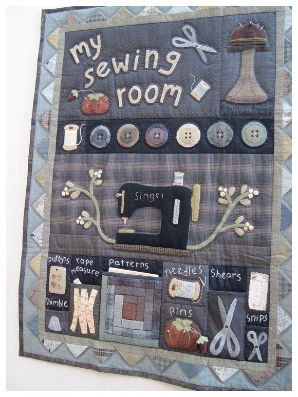 Kathi Campbell, My Sewing Room, pattern at hearttohandpatterns.com