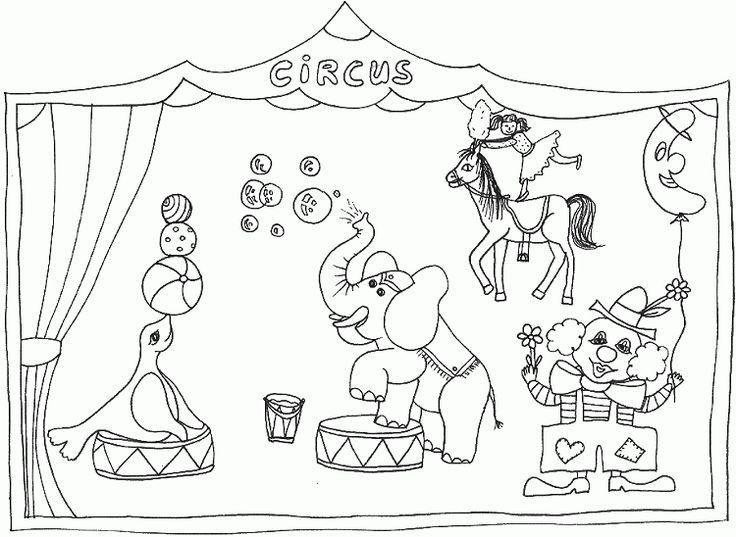 ausmalbilder zirkus 02 | zirkus | pinterest | zirkus