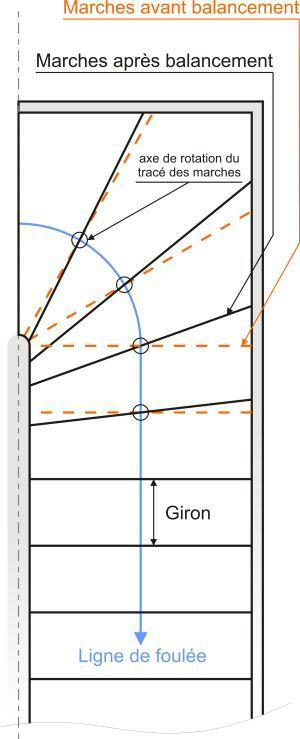 comment dessiner un escalier 1 4 tournant int rieur en. Black Bedroom Furniture Sets. Home Design Ideas