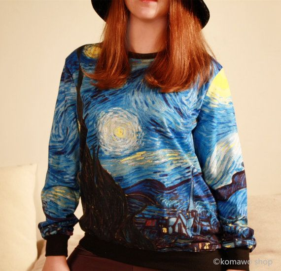 STARRY NIGHT SWEATSHIRT by Van Gogh/ Dutch Art Funky by KOMAWO. Wouldn't usually wear something like this, but so cool!