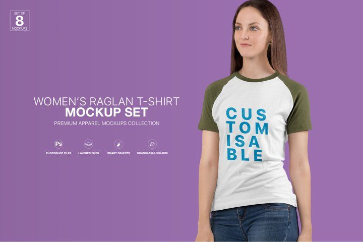 Download Women S Raglan T Shirt Mockup Set Shirt Mockup Clothing Mockup Tshirt Mockup