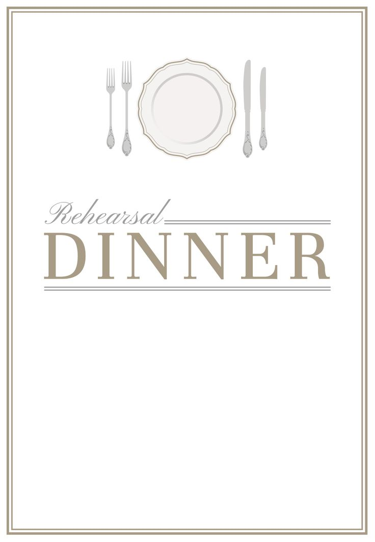 Elegant Setting - Free Printable Rehearsal Dinner Party Invitation ...