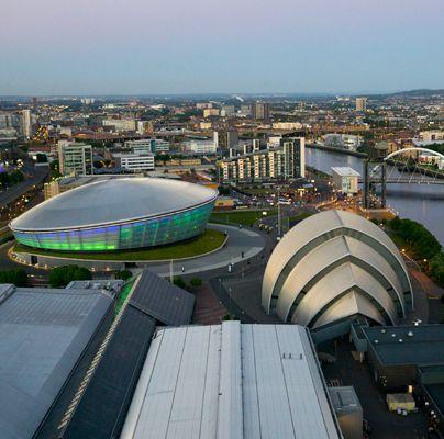 Glasgow's Hydro, Armadillo, and SECC Entertainment Venues.