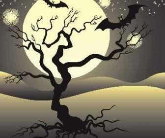 아름 다운 달 밤 배경