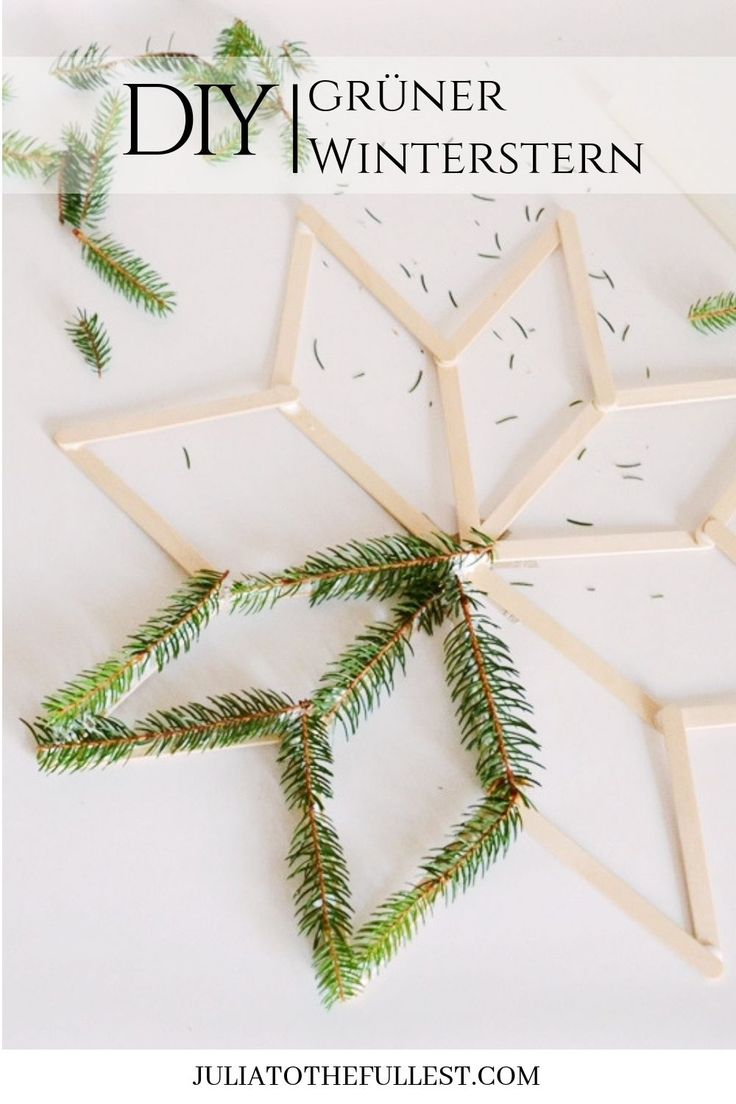 DIY - green winter star with original