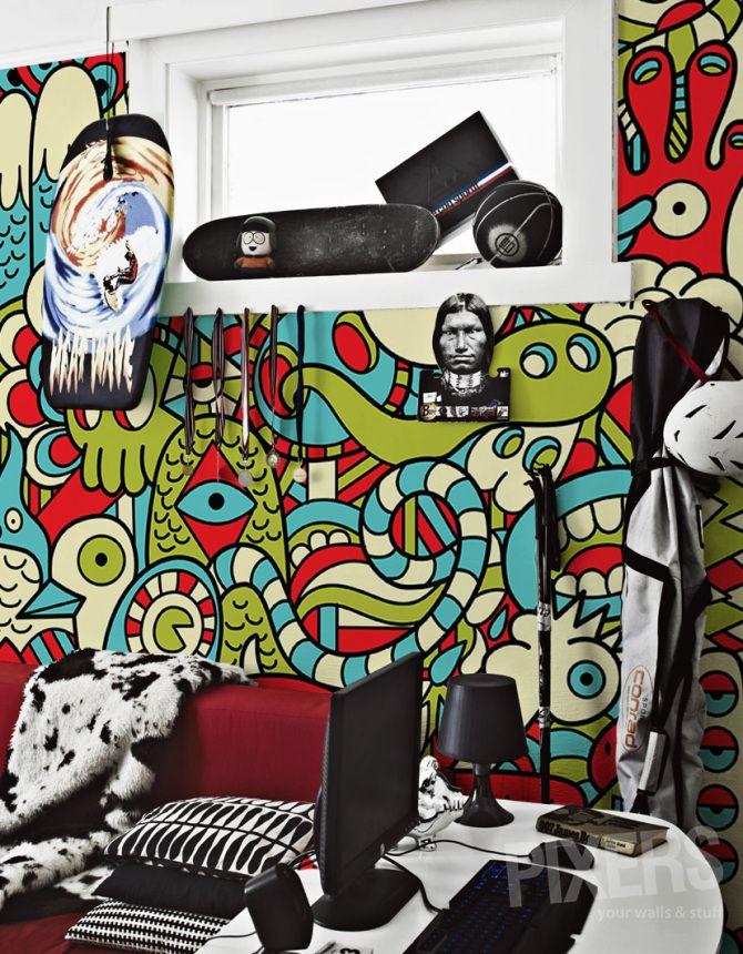 Insane Mural - inspiration wallmurals, interiors gallery• PIXERSIZE.com