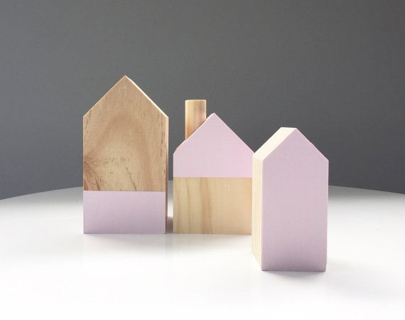 Timber house set Wooden houses by Timberandcoau on Etsy