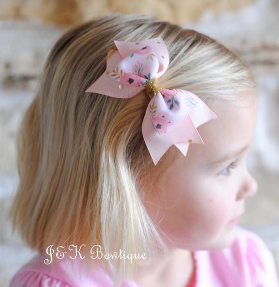 Girl/'s Hair Bow Girl/'s Headband Floral Headband Golden Floral | Mustard Pink Roses MEDIUM Bow Newborn Toddler Hairbow Hair bows