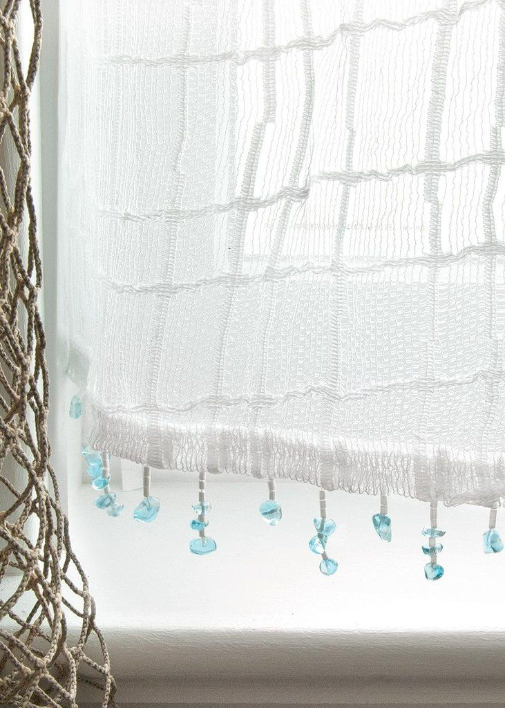 Beautiful Beach Window Curtains Part - 4: Sea Splash Sheer Curtains
