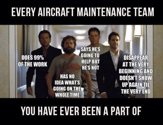 #aviationhumor #aircraftmaintenanceteam #aircraftmaintenancehumor