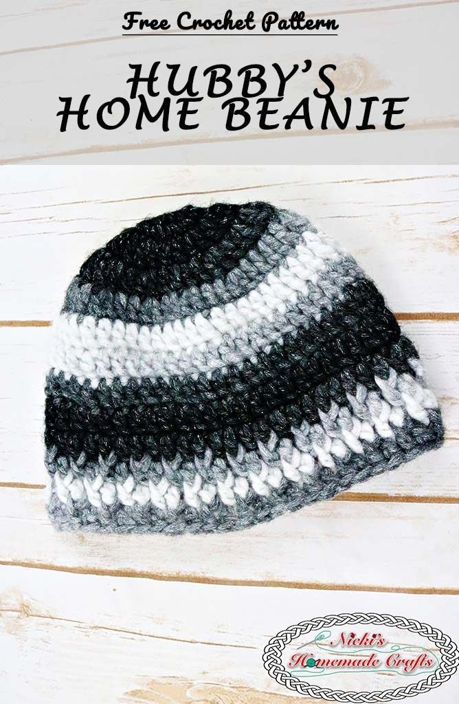 Hubby\'s Home Beanie - Free Crochet Pattern | Stricken | Pinterest