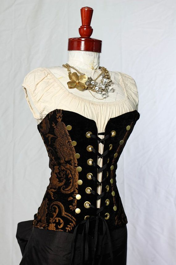 Black and Gold Medallion Buccaneer corset. I don't think I could wear it but like it a lot.