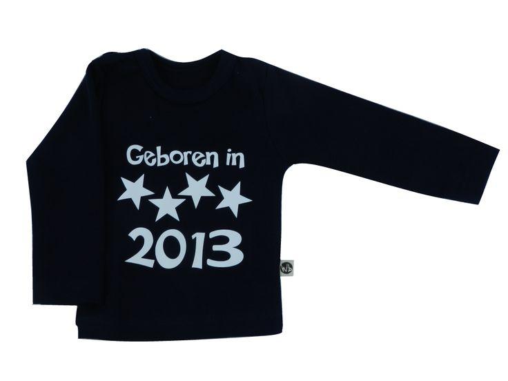 Bedrukte Shirtjes / Rompertjes : Shirt Geboren in 2013 Navy