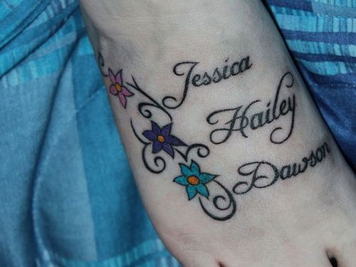 name tattoos on feet designs   Download HERE >> Kids Name Tattoo On Foot