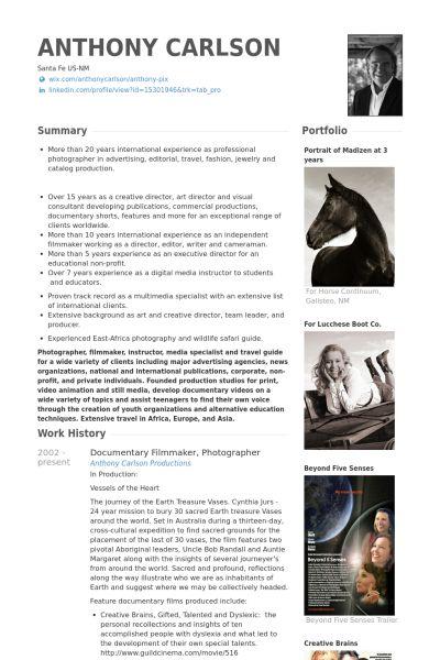 Documentary filmmaker, photographer #CV #creative