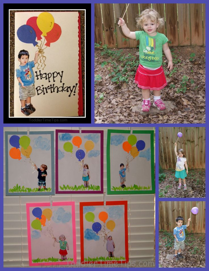 What a perfect personalized birthday card from kids! toddlertimetips.com