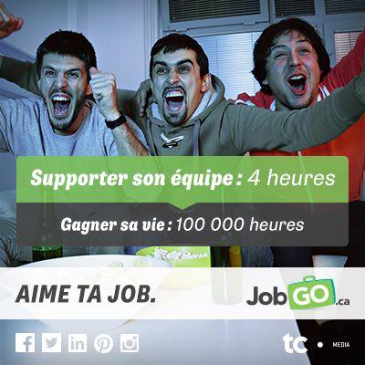Encourager son équipe: 4 heures VS Gagner sa vie: 100 000 heures! #aimetajob #job #emploi #superbowl