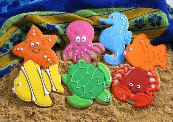 sea cookies on brown sugar sand!