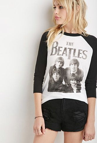 Beatles Baseball Tee | Forever 21 - 2000156985
