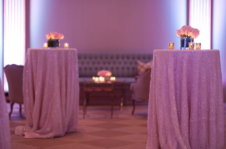 The Decor: sparkly linens, lush florals and vintage furniture | The American Theater, Charleston